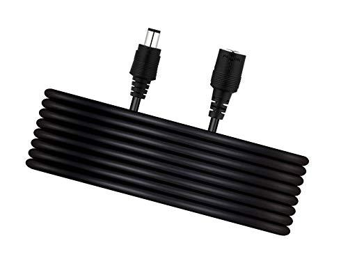 TIKUTKU Cable alargador universal de 6 m, CC 9 V, 6 metros adicionales para conector CC 9 V, 5,5 mm x 2,1 mm, 5 V/9 V/12 V/24 V (6 m), color negro