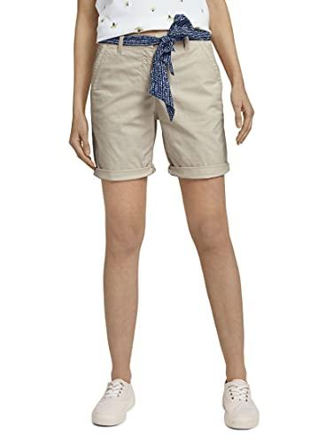 Tom Tailor 1026170 Chino Bermudas, 14459-Linen White, 44 para Mujer