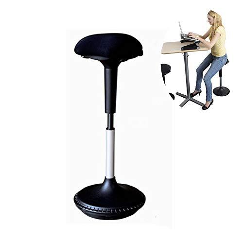 JYHYGS metalen kruk, keukenstoel met metalen poten verstelbare stoelen stoel, ergonomische stoel, instelbare actieve zit/standaard backless draaibare bureaustoel