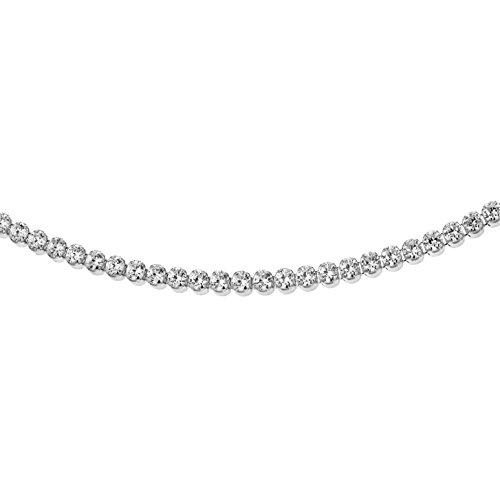 Tuscany Silver Halskette Rhodiniert Sterling Silber Tennis Weiß Zirkonia 46cm/18'