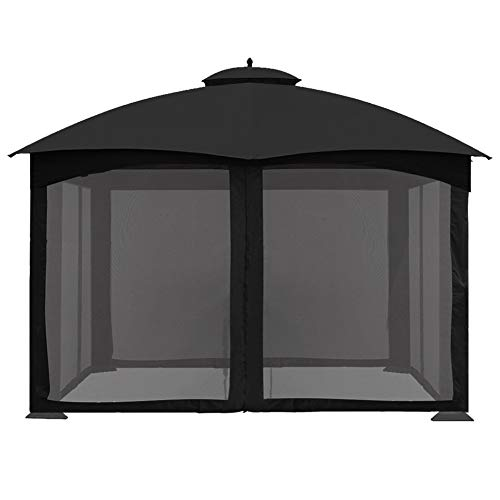 CoastShade Universal Replacement Canopy Mosquito Netting Screen Sidewalls Only for 10' x 12' Gazebo Canopy,Black