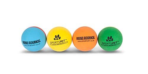 SPORTSPET Mini Bounce - High Bounce - Premium Non Toxic Rubber Balls for...