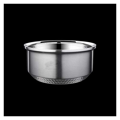 ZHENZEN Stainless metal mixing bowl salad bowl Multifunctional mixing bowl Kitchenware Double insulation High capability Easy to wash (Size : 23cm)