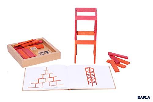 KAPLA 40 Steine, rot und orange + Buch - 4