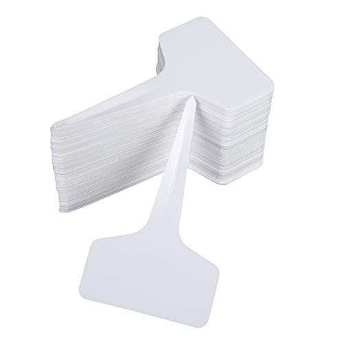 100 Pcs Etichette da Giardino Impermeabili Etichette per Piante in Plastic Cartellini Tag Riutilizzabili Semi Label Vegetali Markers Bianco