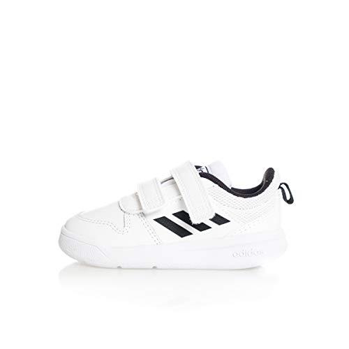 adidas Unisex Baby Tensaur I Sneaker, FTWWHT/CBLACK/FTWWHT, 24 EU