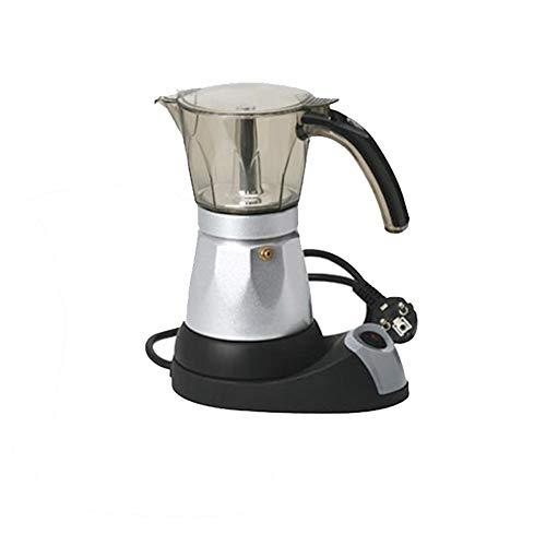 AMLY Küchenminis Edition Espressokocher (Elektrisch, Für 4 Oder6 Tassen, Platzsparend) Silber Italienischer Mokkatopf,150ml