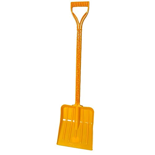 Rocky Mountain Goods Kids Snow Shovel - Perfect Sized Snow Shovel for Kids Age 3 to 12 - Safer Than Metal Snow Shovels - Extra Strength Single Piece Plastic Bend Proof Design (1, Yellow)
