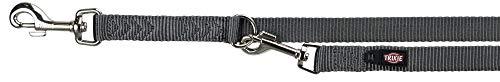 Trixie hondenriem premium verstelbaar nylon grafiet grijs 200X1,5 CM