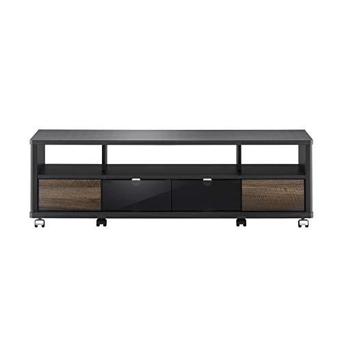 朝日木材加工テレビ台EEstyle52型幅120㎝アッシュグレーキャスター付きAS-EE1200