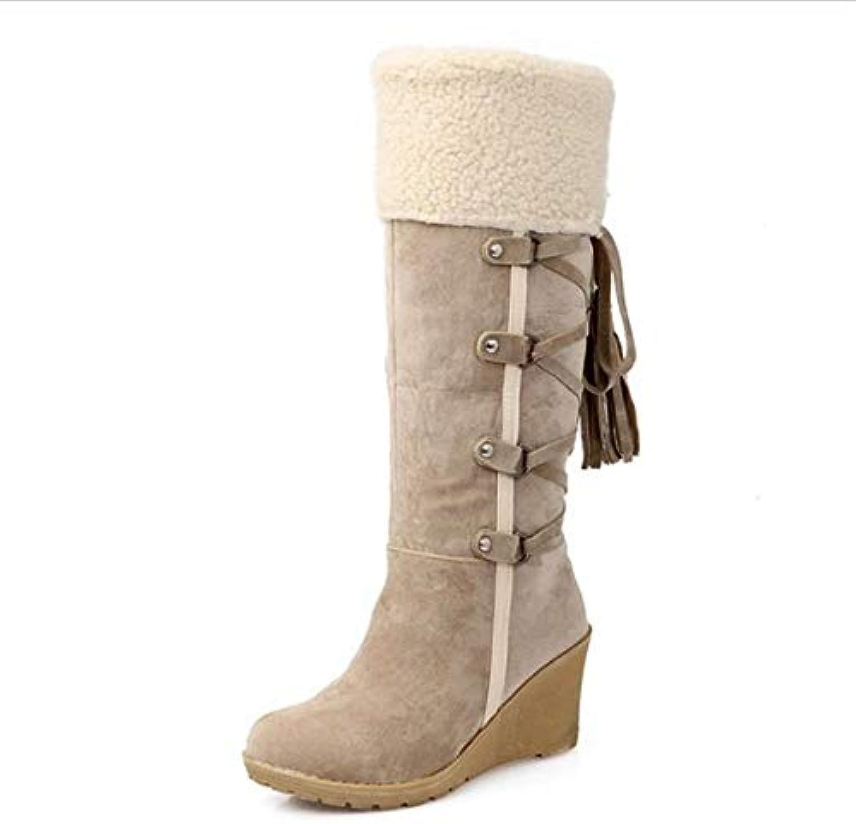 T-JULY Women's Platform Mid Calf Waterproof Fashion Winter Snow Boots