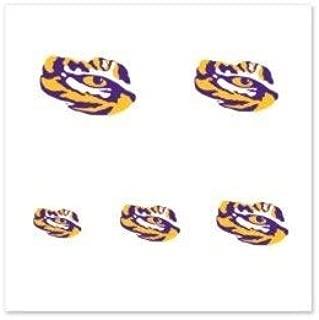 NCAA Louisiana Tigers 4-pack Temporary Nail Tattoos