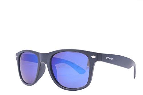 Ocean Sunglasses - Beach wayfarer - lunettes de soleil polarisées - Monture : Noir Mat - Verres : Fumée (18202.4 )