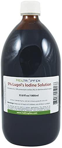 1000 ml Soluzione di iodio Lugol 5%   Formulazione liquida al 15%   Realizzato con il 5 per cento di iodio e il 10% ioduro di potassio   Heiltropfen®