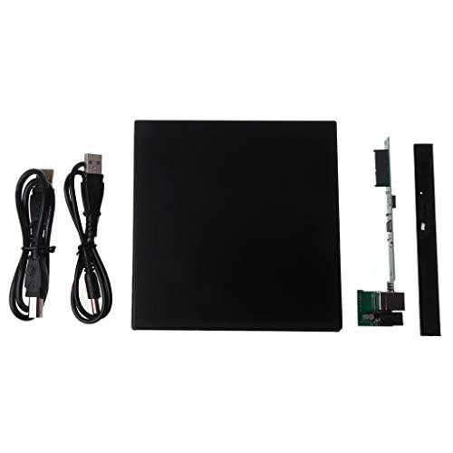 MIKI-Z 12,7 mm USB 2.0 Externa DVDCD-ROM Funda para ordenador portátil de sobremesa PC unidad de disco óptico SATA a SATA DVD externo
