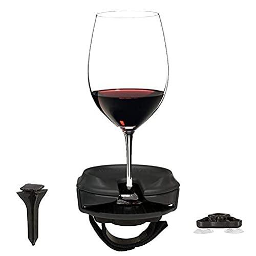 Lewpox Soporte de Copa de Vino, Soporte de Copa de Vino portátil, Soporte de Vidrio de Vino de plástico, Soporte de Vino a Prueba de Viento Fisher para Barcos