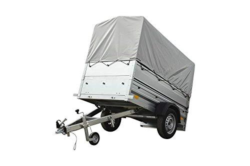 PKW-Anhänger Kipper mit Stützrad, zusätzlichen Bordwänden, Hochspriegel und Hochplane Garden Trailer 200