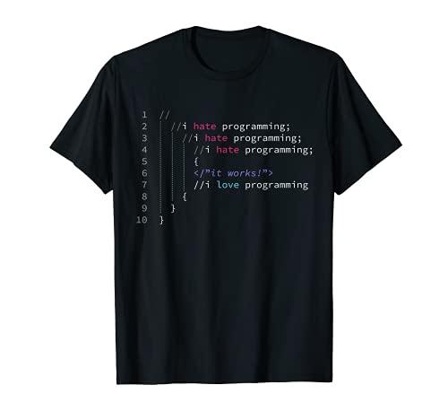 Sono uno scienziato informatico e ingegnere programmatore Maglietta