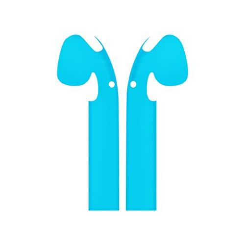 Auriculares bluetooth,CHshe Fundas protectoras Las fundas con estilo minimalistas cubren la personalización,las pieles para Apple AirPods  Cielo azul 
