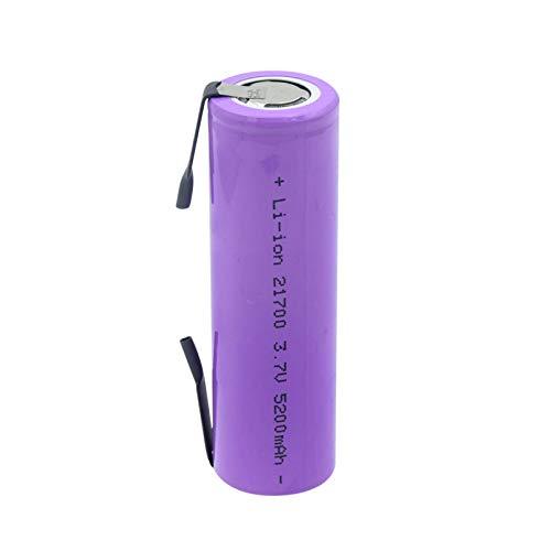 CNMMGL Batería De Iones De Litio De 3.7v 5200mah 21700, Alto Drenaje 20a Recargable para La Batería De Litio De La Linterna 1pcs