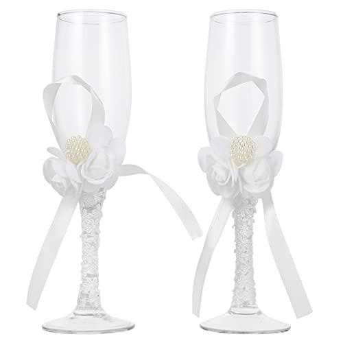 Hemoton 2 piezas de novia y novio boda Champagne Tostado flauta Mr...