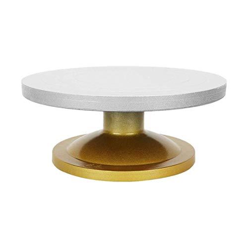 BENOHAOH Máquina metálica Máquina de cerámica Mesa giratoria Turnible de Plato Giratorio Modelado de Arcilla para Trabajos cerámicos Turnato de cerámica