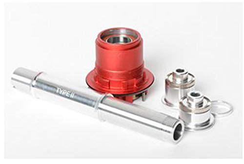 NoTubes Conv. Kit XX1 XD für 12x135mm Steckachse, für 3.30 1 auf Typ 2 Inkl. Endkappen, Freilauf, Achse, ZH0194 Laufräder, rot
