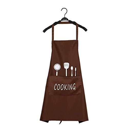 Xinllm Mandil Cocina Mujer Delantales Cocina Las Mujeres Delantal Delantales de Cocina Delantales de Cocina para Mujeres Mens Delantal Brown