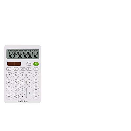 FDSJKD Calculadora de Escritorio Botones Grandes Herramienta de Contabilidad empresarial Batería y energía Solar Calculadora Escuela de Estudiante de Oficina Aprendizaje asistido