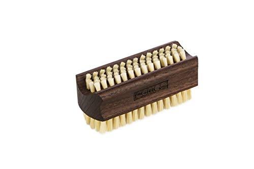 REMOS Brosse à main et ongles avec poils naturels en bois frêne - deux côtés