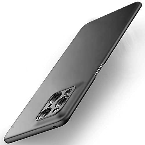 DOHUI für Oppo Find X3 Pro Hülle, Superdünne Leichte PC Handyhülle [Stoßfeste] [Kratzfeste] [rutschfest] Schutzhülle kompatibel mit Oppo Find X3 Pro (Schwarz)