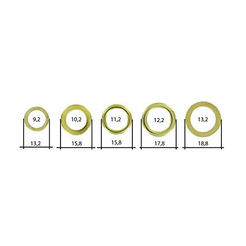 50 verschiedene Fitschenringe - Fitschenring-Sortiment - jeweils 10 von einer Größe/zum anheben von Türen