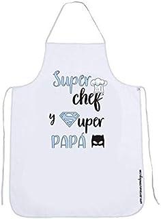 Delantal de cocina para papá SUPER CHEF Y SUPER PAPÁ