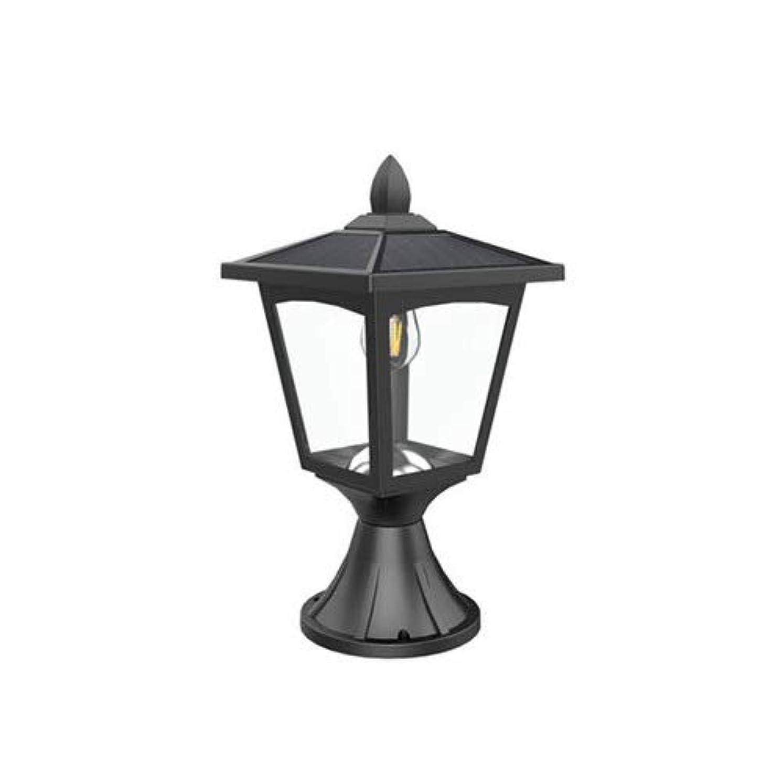 おもてなし食品焦がすHSCW 太陽エネルギーの柱ポストライト屋外防水IP44ポストランプ景観照明フィクスチャヴィラガーデンコートヤードの柱ランプパークヤードドアピラーライトフェンスライト (Color : B)