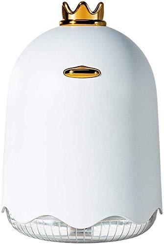 Humidificador de aire humidificador, spray hidratante para el hogar de escritorio, carga USB, pequeño escritorio, oficina, hogar, niebla fría ultrasónica (color blanco)