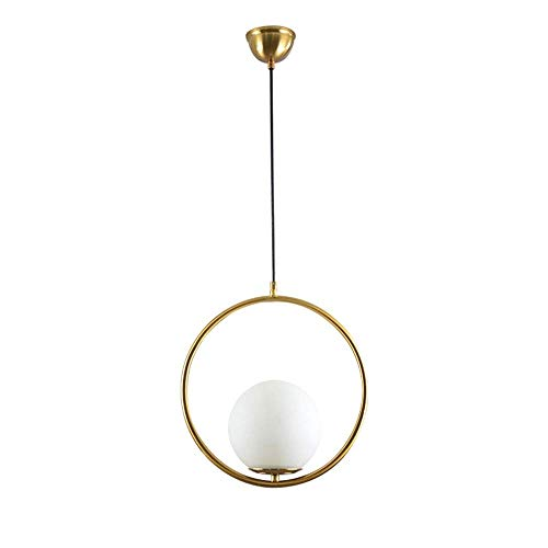 ZZYJYALG. Lampadario rotondo, plafoniere di arte della personalità creativa, lampade a sospensione in ferro battuto, luci dell'isola postmoderna, camera da letto lampada da soffitto a cupola, lampada