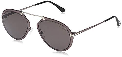 Tom Ford Unisex-Erwachsene FT0508 08Z 53 Sonnenbrille, Grau (Antracite Luc/Specchiato)