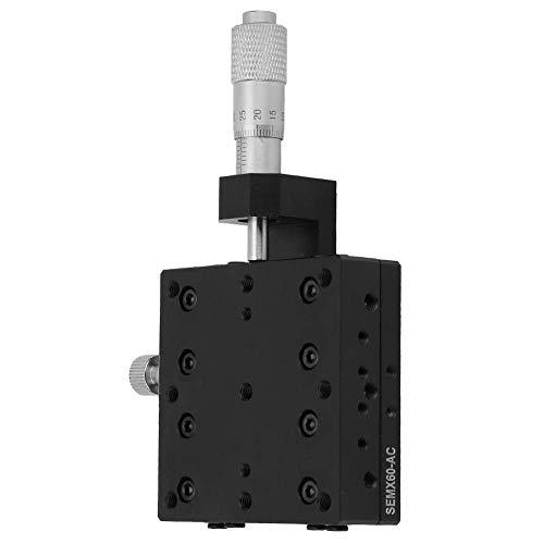 Facibom Lineartisch SEMX60-AC X, X-Mikrometer Manuelle Pr?Zision Linearverschiebung Tisch Verschiebung Plattform Lineartisch Schiebetisch mit X-Achsen