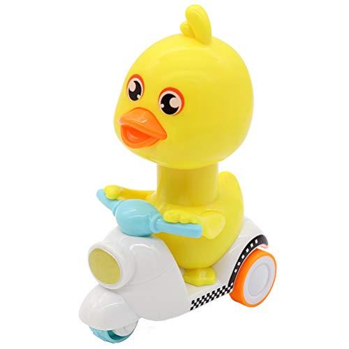 Mini Ente zurückziehen Spielzeug, Creamon Mini Ente zurückziehen Spielzeug Little Yellow Cartoon Ente zurückziehen Trägheit Spielzeug für Baby Kids blau