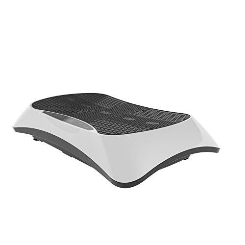 VibroSlim Plataforma vibratoria 4D con Función Masaje | Pierda Peso y tonifique los músculos | 4 Programas y 180 velocidades | 3 Motores | Bluetooth con Altavoces y Contador de calorías (Blanco)