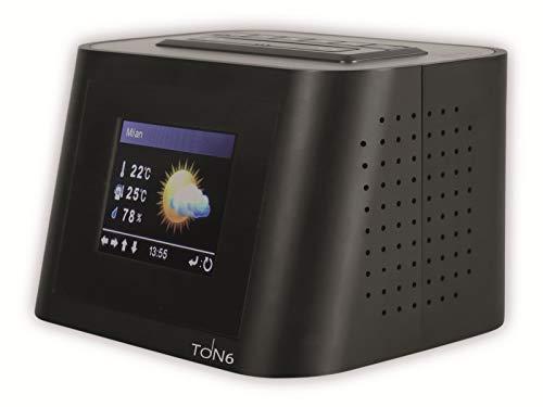 RED OPTICUM Ton6 UKW/Internet-Radio schwarz - Tragbares Internetradio WLAN mit Kopfhörerausgang - AUX-IN - 2,4\'\' TFT-Farbdisplay - 260 Senderspeicherplätze - Relax-Funktion - Digitalradio Badradio