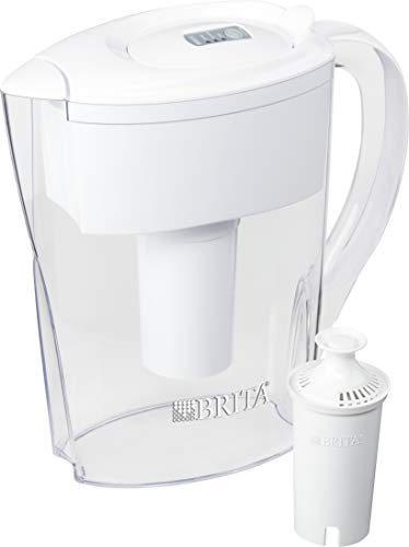 Brita 35250 Space Saver Pitchers, White
