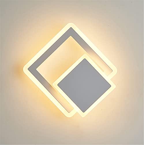 XHLLX Lámpara de Pared LED, lámpara de Pared de acrílico con Cuerpo de lámpara de Metal, lámpara de Pared Moderna Regulable, luz Nocturna, iluminación de Pared,A