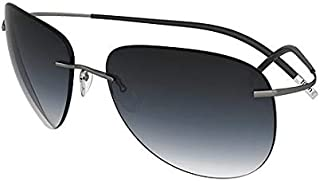 c3feb26ed5 Silhouette Gafas de Sol TMA Icon 8697 Matte Silver/Grey Blue Shaded Unisex