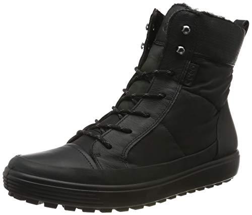 ECCO womens Soft 7 Tred Winter Gore-tex Oxford Boot, Black/Black/Black Textile, 10-10.5 US