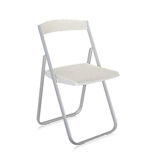 Kartell Honeycomb chaise pliante blanche brillante