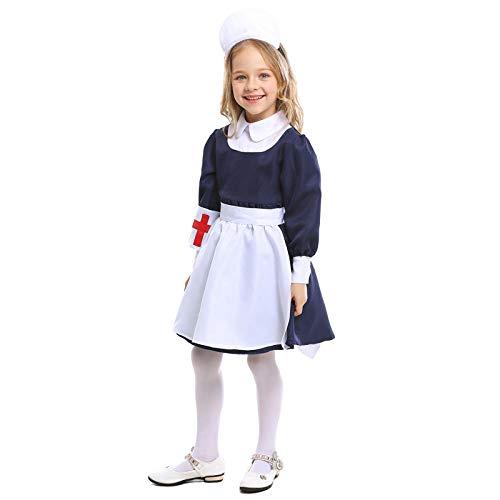 XYL Kostuum Cosplay Party Aankleden Outfit/Fairy Tales/Fancy Party Jurk Rol spelen spel uniform meisje blauw wit meid
