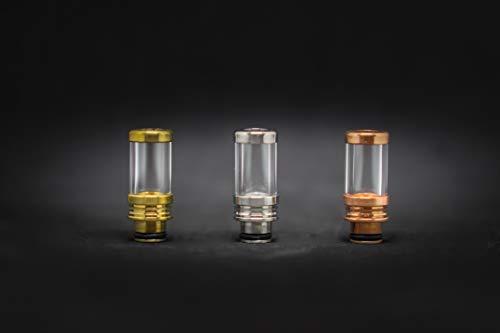 Pyrex Glass drip Tips Gold