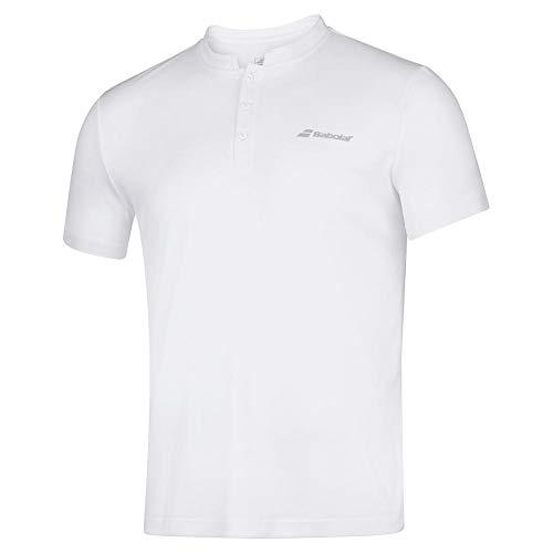 Babolat Boy's Play Tennis Polo, White/White (US Youth Size 10-12)