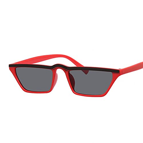 DAIDAICDK Gafas de Sol cuadradas de Metal para Hombres y Mujeres Gafas de Sol con Degradado Gafas de Viaje para Exteriores Accesorios para automóviles